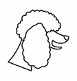 Poodle dog icon outline style vector image vector image
