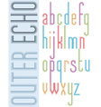Poster bright echo condensed font striped compact vector image vector image