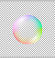 realistic soap bubble with rainbow reflection vector image vector image