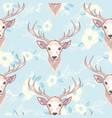 reindeer seamless pattern vector image vector image