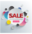 sale only limited quantities avaliable circle back vector image vector image