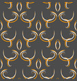 seamless black abstract oriental pattern with vector image vector image