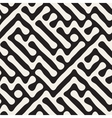Seamless Freehand Geometric Rounded Maze vector image