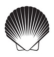 seashell flat icon vector image vector image