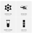 set of 4 editable clinic icons includes symbols vector image