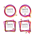 set quote frame colorful quote frames for vector image vector image