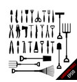 set various gardening tools vector image