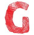 Slova saranaG resize vector image