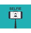 Smartphone Selfie Tool Monopod vector image