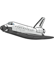 space shuttle cartoon vector image vector image