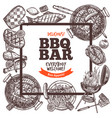 square poster invitation for barbecue party bbq