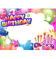 template for birthday card with place for text vector image vector image
