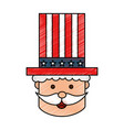 uncle sam character icon vector image vector image