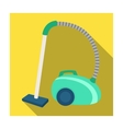 Vacuum cleaner icon in flat style isolated on vector image