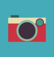 vintage rangefinder film camera vector image vector image