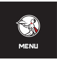waiter menu design vector image