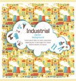 white cloud on industrial background vector image vector image