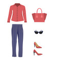 woman outfit set vector image vector image