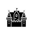 castle kingdom 3 towers icon vector image