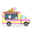 ice cream car isolated on a white background vector image