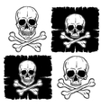 Set of Skull and Crossbones vector image