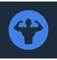 Bodybuilder Fitness Logo Icon vector image
