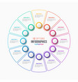 12 parts infographic design circle chart vector image vector image