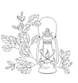 A Old petrol lamp with white background vector image