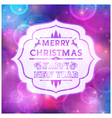 Abstract greeting with Christmas and New Year vector image vector image