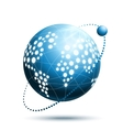 Abstract world icon vector image vector image