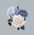 beautiful bouquet composition vector image vector image