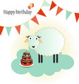 Birthday template greeting card isolated on white vector image vector image