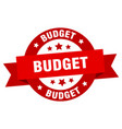 budget ribbon budget round red sign budget vector image vector image