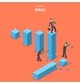 Business wars isometric flat concept vector image vector image