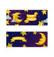 cartoon moon moonlight star character in night vector image vector image