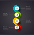 circles infographic on a dark background vector image vector image