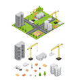 city landscape isometric view and element set vector image vector image