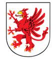 coat arms pomerania germany province shield vector image vector image