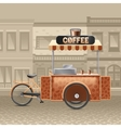 Coffee Street Cart vector image