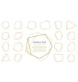 collection trendy golden polygonal luxury vector image