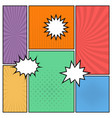 colorful comic book page background vector image