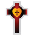 colorful lutherian cross on a white background vector image vector image