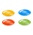 colorful set of sugar-coated pills vector image vector image