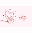 creative line heart for happy valentines day vector image