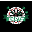 Darts label Badge Logo sporting symbols vector image vector image