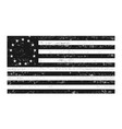 distressed black and white betsrossy flag vector image