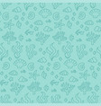 doodle seamless turquoise coral reef seamless vector image