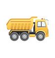 dump truck construction vehicle vector image vector image