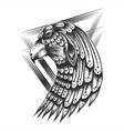 eagle head vintage vector image vector image