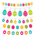easter eggs banners set vector image
